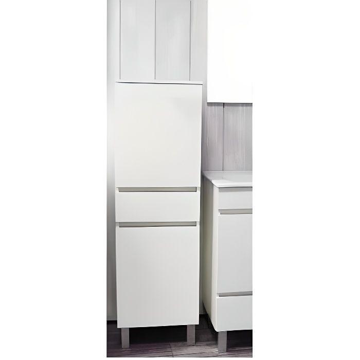 COLONNE - ARMOIRE SDB LANCELO Colonne de salle de bain L 40 cm - Blanc m