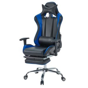 SIÈGE GAMING Chaise Gamer Baquet Rallye - Simili et PVC - Noir