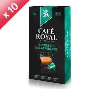 CAFÉ 50 capsules CAFÉ ROYAL de café Royal Decaffeinato