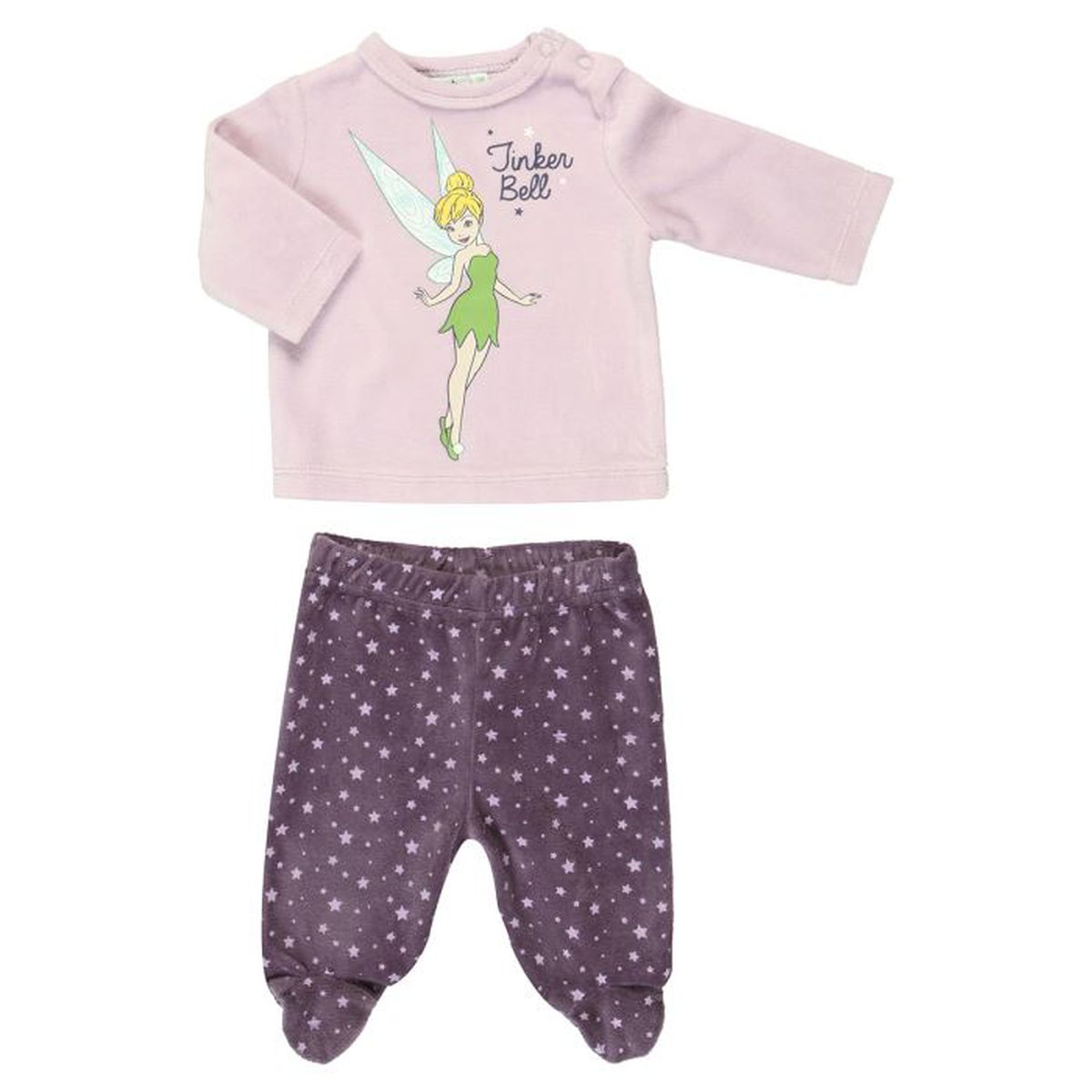 la fee clochette pyjama b b fille parme et violet achat. Black Bedroom Furniture Sets. Home Design Ideas