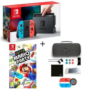 CONSOLE NINTENDO SWITCH Pack Nintendo Switch Néon + Super Mario Party + Pa
