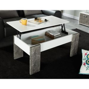 Table basse achat vente table basse pas cher cdiscount for Table basse plateau relevable pas cher