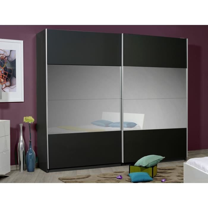 optimus armoire maxi dressing 260cm noir achat vente armoire de chambre optimus armoire maxi. Black Bedroom Furniture Sets. Home Design Ideas