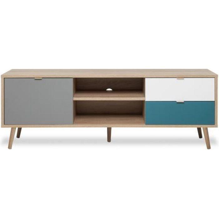meuble tv bleu canard