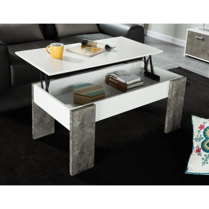 sherlock table basse plateau relevable style contemporain. Black Bedroom Furniture Sets. Home Design Ideas