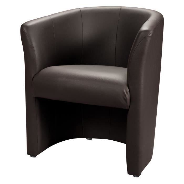 Baya fauteuil cabriolet choco achat vente fauteuil pvc polyur thane cd - But fauteuil cabriolet ...