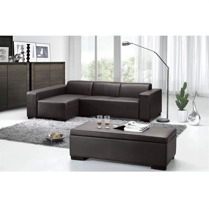 harrow canap simili d 39 angle gauche ottoma achat vente canap sofa divan cdiscount. Black Bedroom Furniture Sets. Home Design Ideas