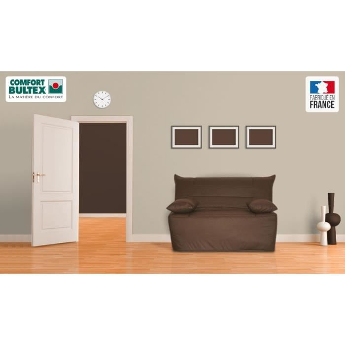 tix banquette bz convertible bultex 2 places chocolat achat vente bz bois panneaux de. Black Bedroom Furniture Sets. Home Design Ideas