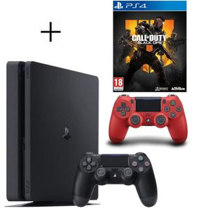 CONSOLE PS4 Pack PS4 500 Go Noire + Manette PS4 DualShock 4 Ro