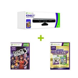 PACK ACCESSOIRE Pack Kinect Xbox 360 +  2 Jeux Xbox 360