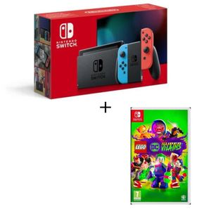 CONSOLE NINTENDO SWITCH Pack Nintendo Switch Neon + LEGO DC Super-Villains