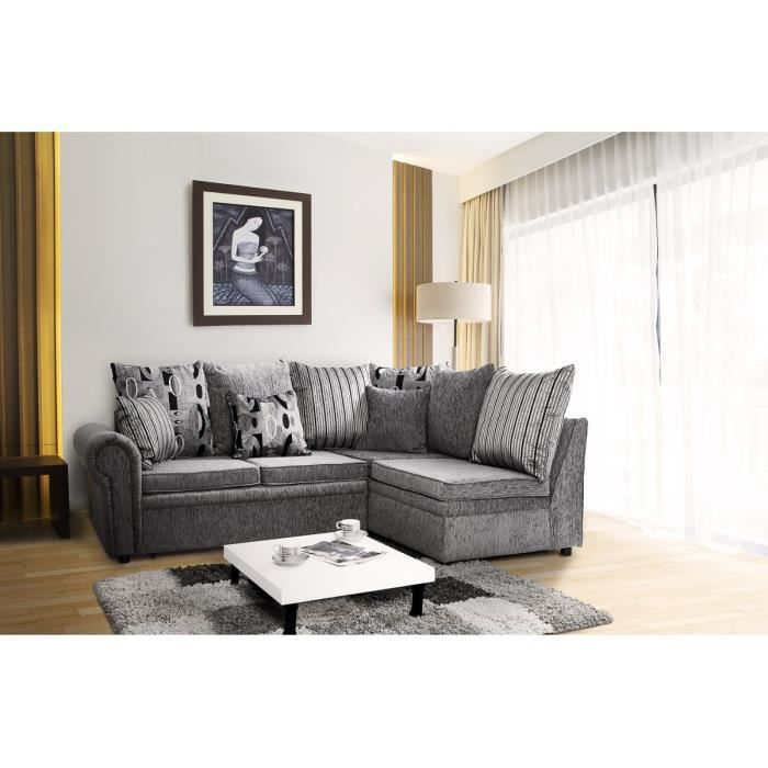 Colombo canap conv lit angle droit 4 places gris achat vente canap so - Canape droit 4 places ...