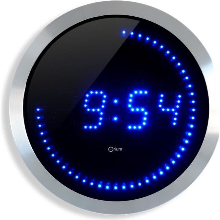 led horloge murale bleue 30cm achat vente horloge. Black Bedroom Furniture Sets. Home Design Ideas
