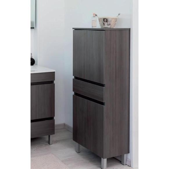 COLONNE - ARMOIRE SDB LANCELO Colonne de salle de bain L 40 cm - Gris ma