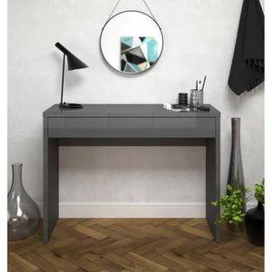 CONSOLE ARENA Console style contemporain gris brillant - L