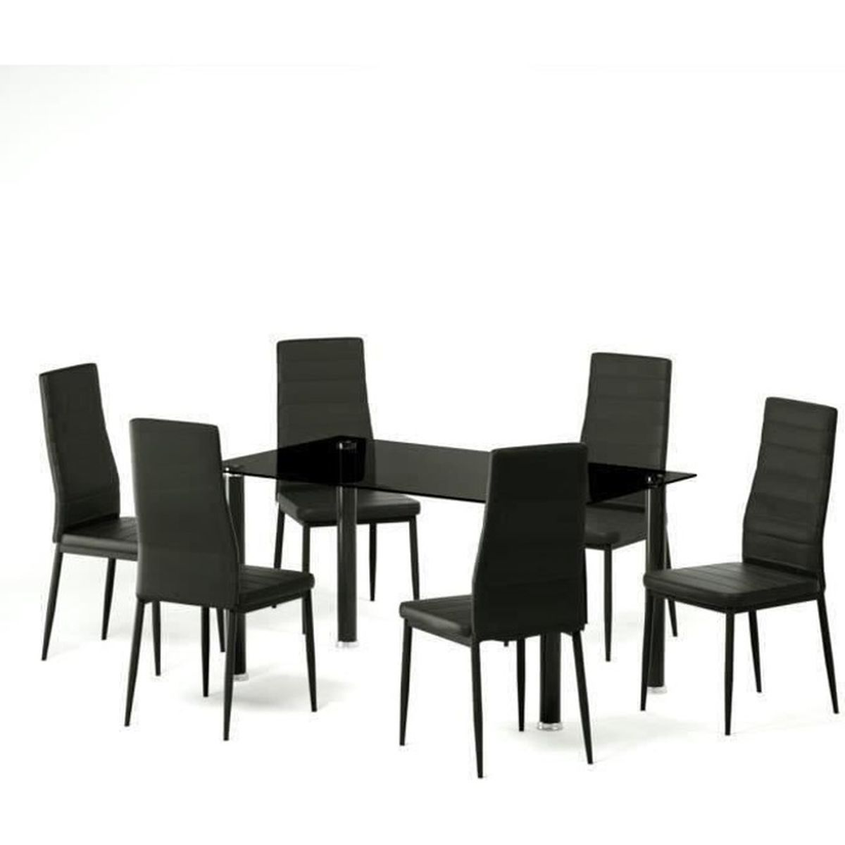Table a manger et chaises for Table 6 personnes conforama
