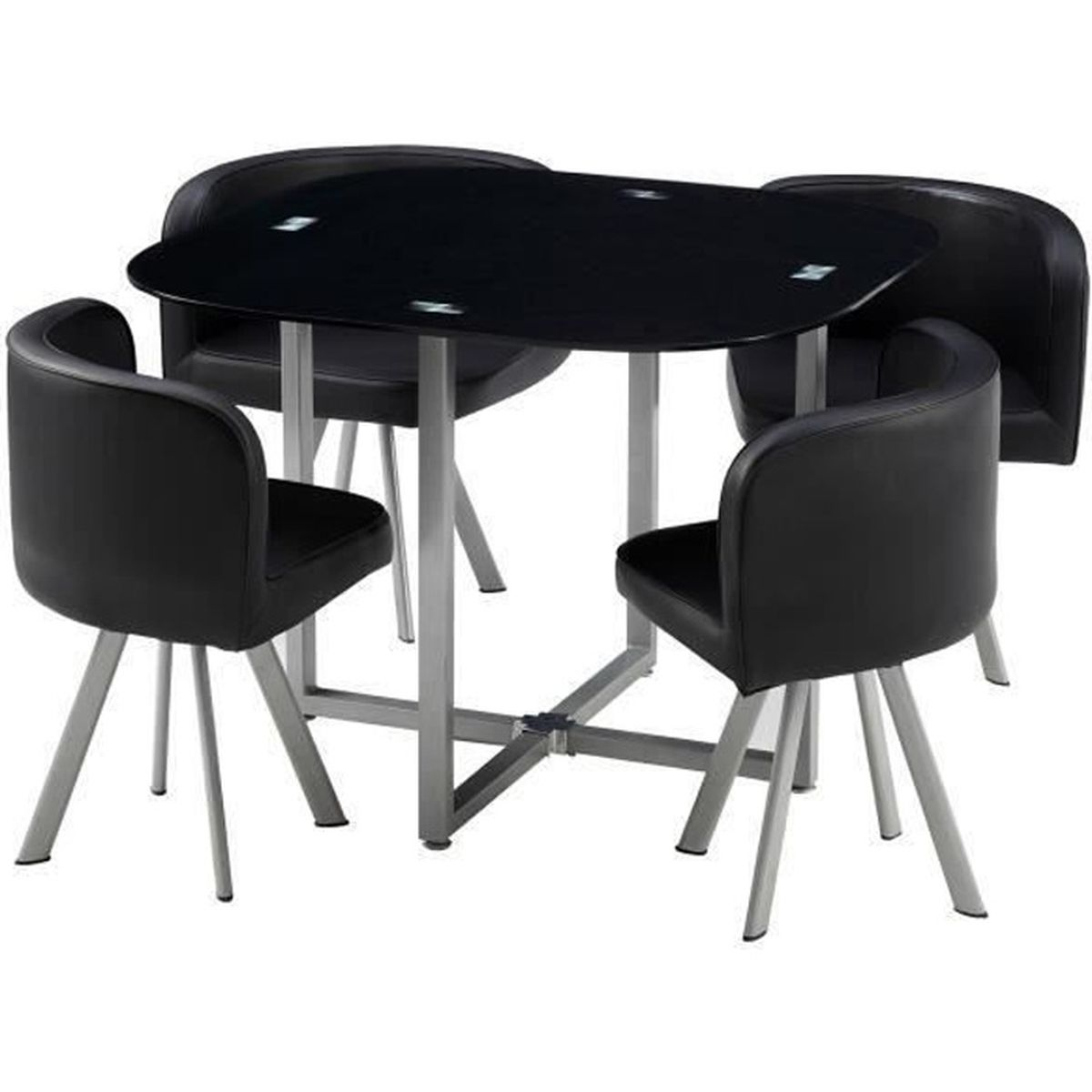 table avec chaise encastrable achat vente pas cher. Black Bedroom Furniture Sets. Home Design Ideas