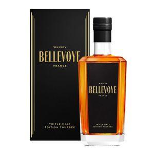 WHISKY BOURBON SCOTCH Bellevoye - Triple Malt Français - Whisky - Noir -