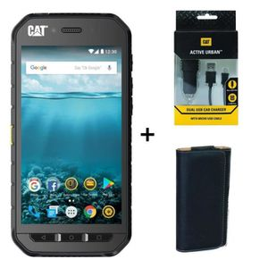 SMARTPHONE Caterpillar Cat S41 + Chargeur Allume-Cigare + Hou