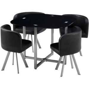 table avec chaise encastrable achat vente table avec chaise encastrable pas cher cdiscount. Black Bedroom Furniture Sets. Home Design Ideas