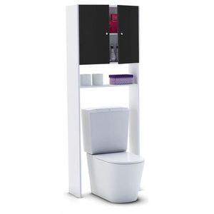 COLONNE - ARMOIRE WC CORAIL Meuble WC ou machine à laver L 63 cm - Noir