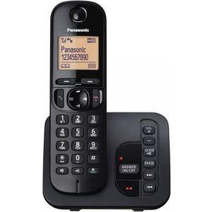 Téléphone fixe PANASONIC téléphone DECT solo noir avec répondeur