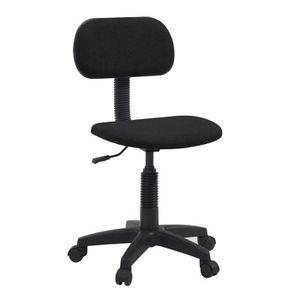 CHAISE DE BUREAU PIKTO Chaise de bureau dactylo - Tissu Noir - L 38