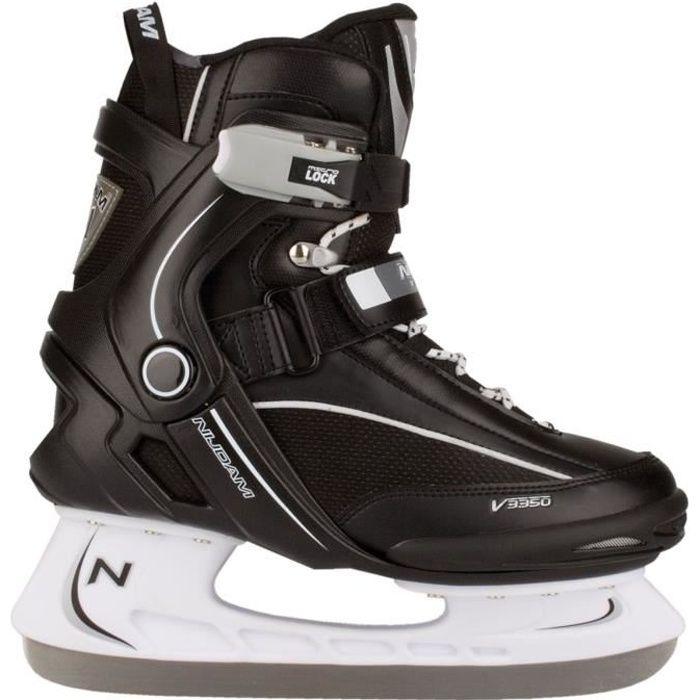 PATIN À GLACE NIJDAM Patins Hockey sur glace - Adulte - Noir