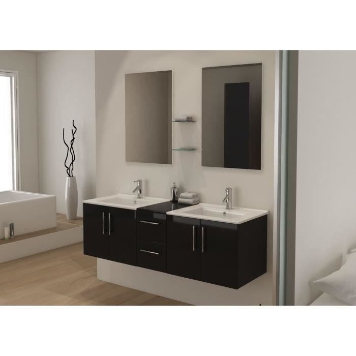 tiana ensemble salle de bain double vasque 150 cm achat vente salle de bain complete tiana. Black Bedroom Furniture Sets. Home Design Ideas