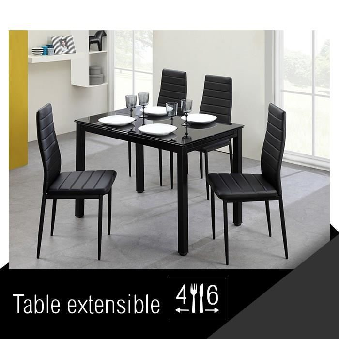 Aleph ensemble table manger extensible 4 8 personnes for Table extensible 6 a 8 personnes blooma