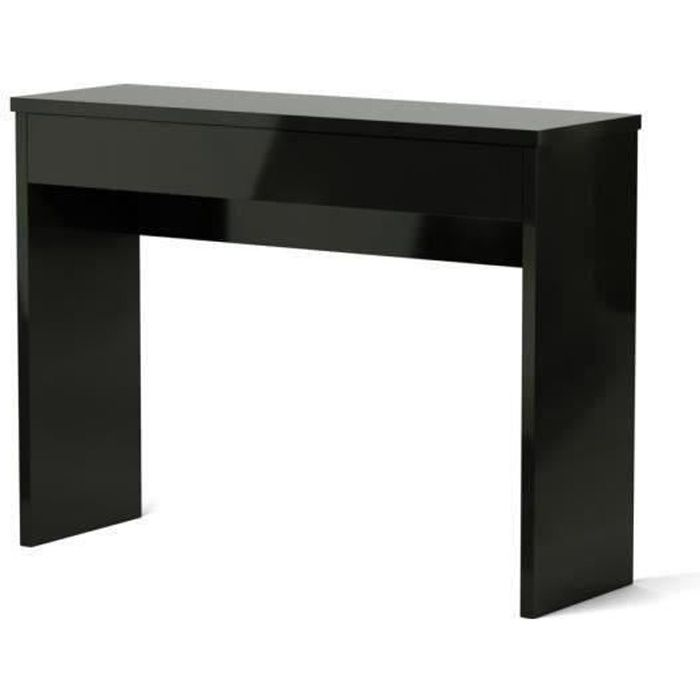 arena console meuble style contemporain noir brillant l. Black Bedroom Furniture Sets. Home Design Ideas