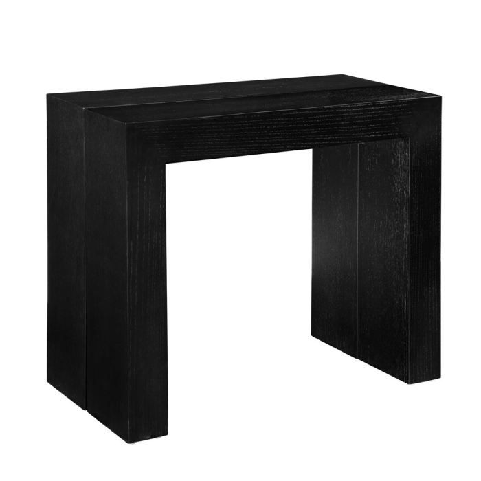 92 table console extensible noir console extensible. Black Bedroom Furniture Sets. Home Design Ideas