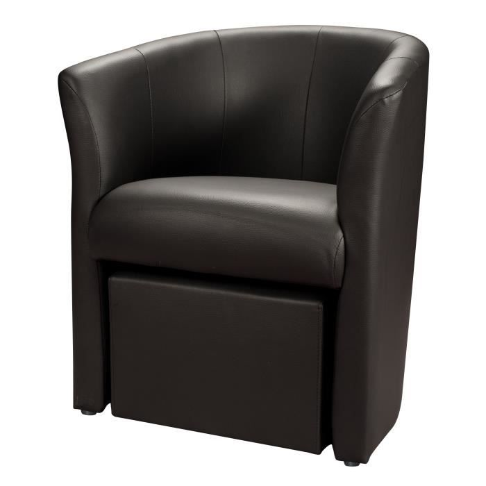 fauteuil cabriolet cuir avec pouf. Black Bedroom Furniture Sets. Home Design Ideas