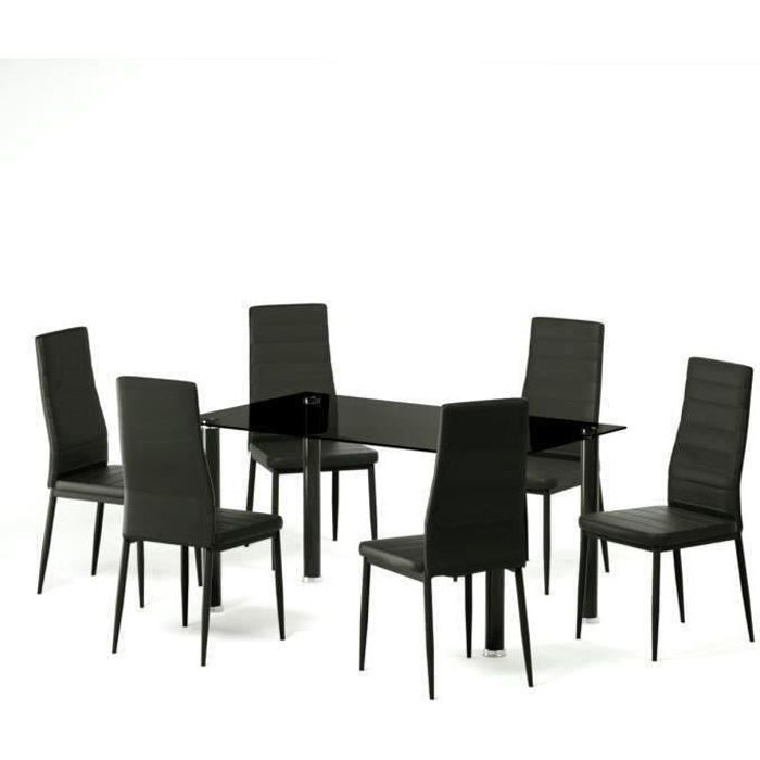 table chaises achat vente table chaises pas cher les soldes sur cdiscount cdiscount. Black Bedroom Furniture Sets. Home Design Ideas