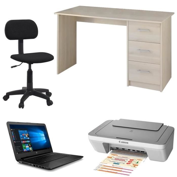 ensemble bureau chaises de bureau imprimante canon ordinateur portable hp 14 achat. Black Bedroom Furniture Sets. Home Design Ideas