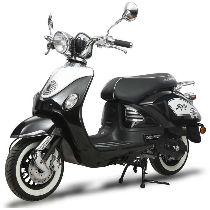 scooter retro 50cc 4t achat vente scooter retro 50cc 4t pas cher cdiscount. Black Bedroom Furniture Sets. Home Design Ideas