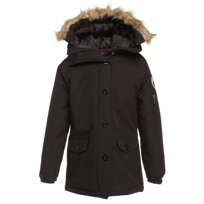northland parka fourrure synth tique enfant fille noir achat vente parka soldes cdiscount. Black Bedroom Furniture Sets. Home Design Ideas