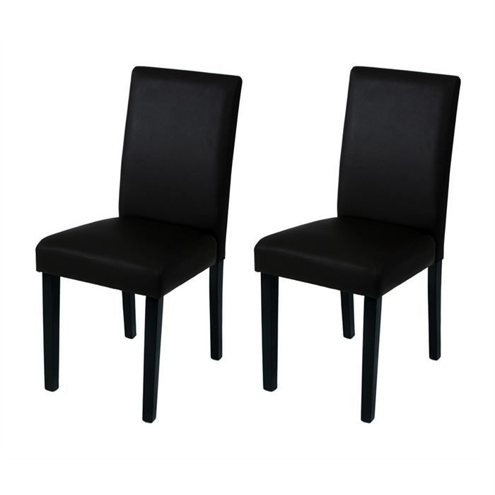 lucia lot de 2 chaises noir achat vente chaise. Black Bedroom Furniture Sets. Home Design Ideas