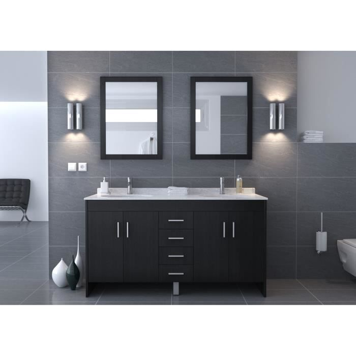 neree salle de bain compl te 150cm noir mat achat vente salle de bain complete neree salle. Black Bedroom Furniture Sets. Home Design Ideas