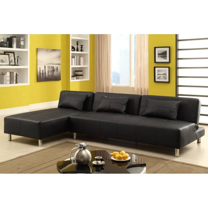 canap corner angle r versible 3 coussins recouvrement. Black Bedroom Furniture Sets. Home Design Ideas