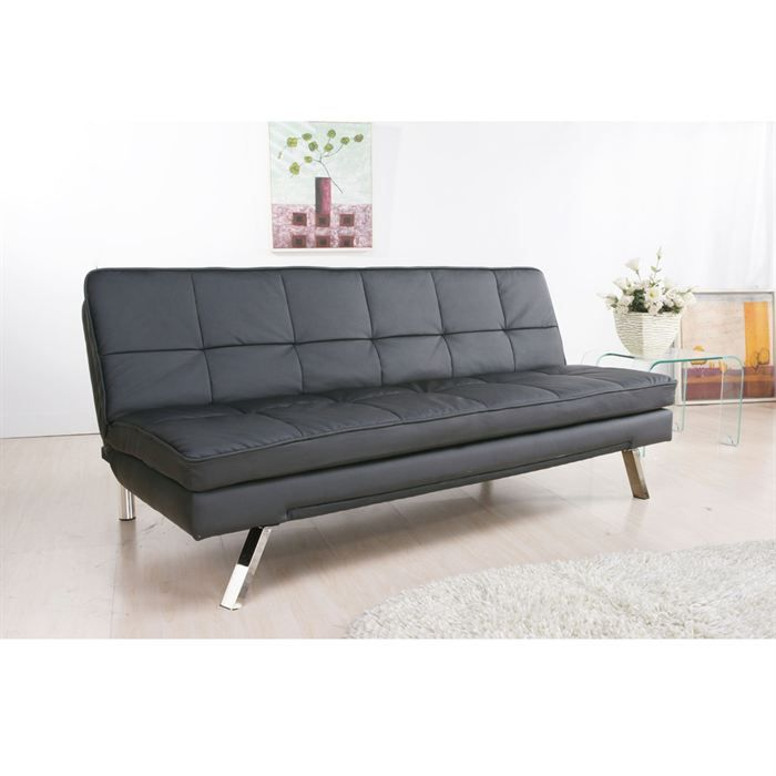 ventura banquette clic clac p u noir achat vente clic clac cdiscount. Black Bedroom Furniture Sets. Home Design Ideas