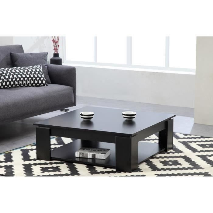 Manhattan table basse carr e noir achat vente table - Table basse carree noire ...