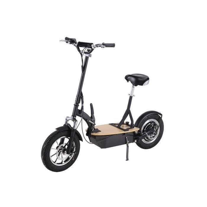 trottinette electrique brushless 350w noire achat. Black Bedroom Furniture Sets. Home Design Ideas