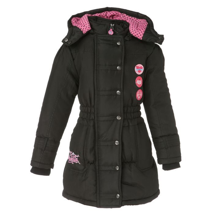 violetta parka enfant fille noir achat vente doudoune violetta parka fille cdiscount. Black Bedroom Furniture Sets. Home Design Ideas