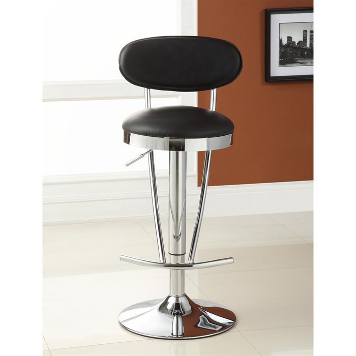 jackson tabouret de bar noir achat vente tabouret pvc m tal cdiscount. Black Bedroom Furniture Sets. Home Design Ideas