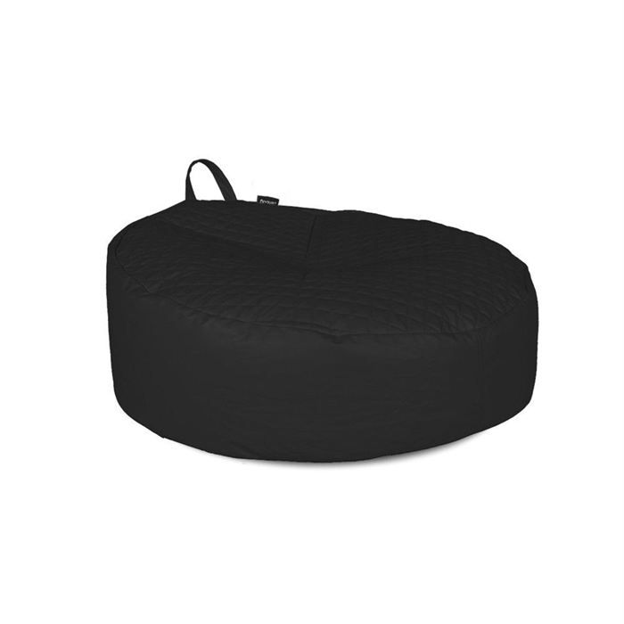 pouf rond v2 zenbag noir en pu matelass achat vente pouf poire pouf rond v2 zenbag noir. Black Bedroom Furniture Sets. Home Design Ideas