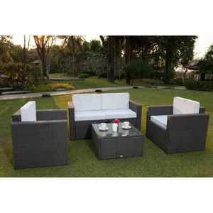 salon de jardin achat vente salon de jardin pas cher soldes d s le 27 juin cdiscount. Black Bedroom Furniture Sets. Home Design Ideas