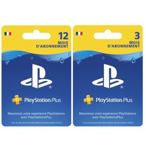 CARTE MULTIMEDIA Abonnement PlayStation Plus 15 Mois PSVita-PS3-PS4