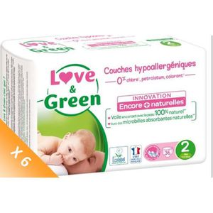 COUCHE LOVE & GREEN Couches Pack 1 Mois - Taille 2 - 216
