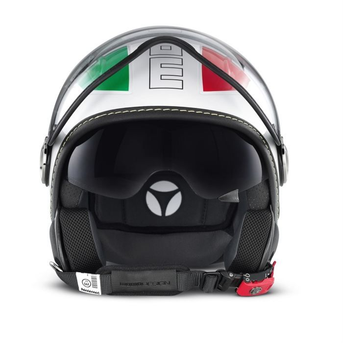 casque momo design avio vert blanc rouge achat vente casque moto scooter casque momo design. Black Bedroom Furniture Sets. Home Design Ideas